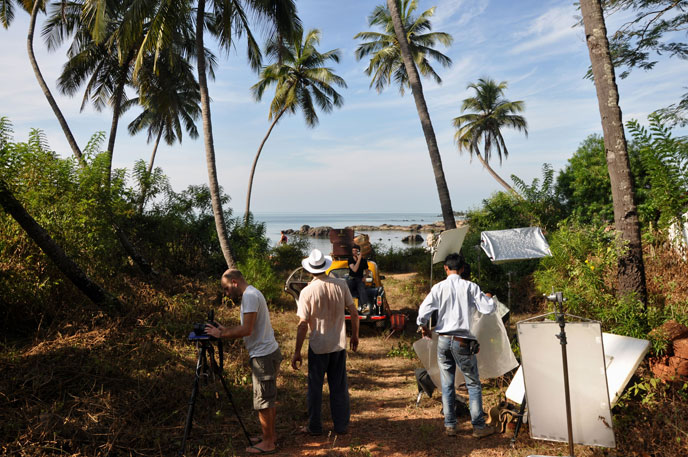Film shoot in Goa India