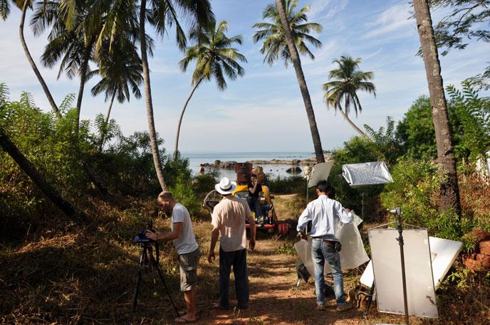 Film shoot in Goa India